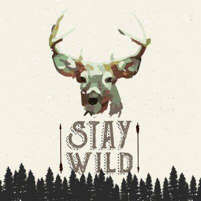 Poster Wilderness Poster-Konzept