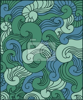 windings green ornamental background