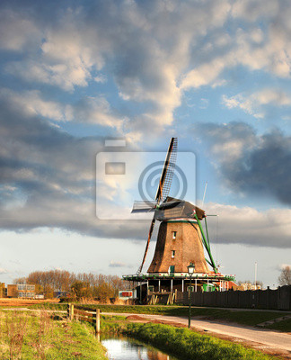 Windmühlen in Zaanse Schans, Amsterdam, Holland