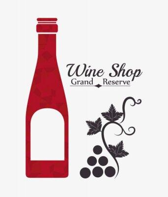 Poster Wine digitaler Entwurf.