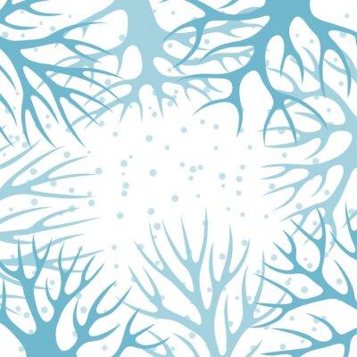Poster Winter-Hintergrund-Design mit abstrakten stilisierte Bäume