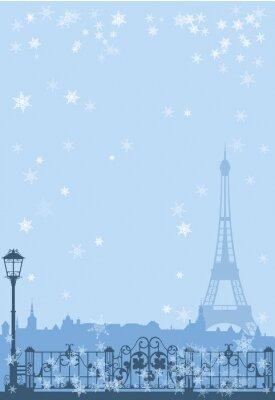 Poster Winter Paris Hintergrund