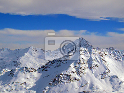 Winterhimmel in den Alpen