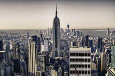 Wolkenkratzer von New York City im Winter