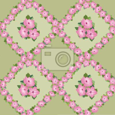 бесшовный фон из розовых цветов, обои из букетов петунии, drucken