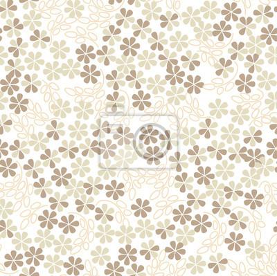 бесшовный фон из белых и бежевых цветов, drucken