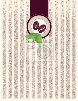 фон из зерен кофе, графика, Print
