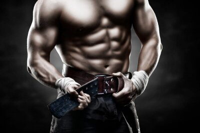 Poster красивое мужское тело