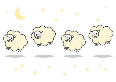 Poster 羊 夜 イラスト