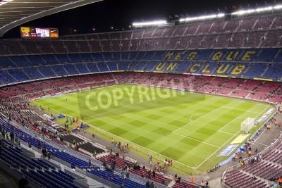 Poster BARCELONA - 16. Dezember: Blick auf das Stadion Camp Nou vor der spanischen Liga Spiel zwischen dem FC Barcelona und Atletico de Madrid, Endstand 4-1, am 16. Dezember 2012 in Barcelona, Spanien