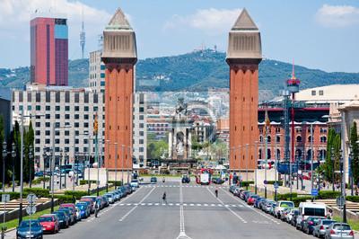 Die venezianische Türme. Barcelona, Spanien