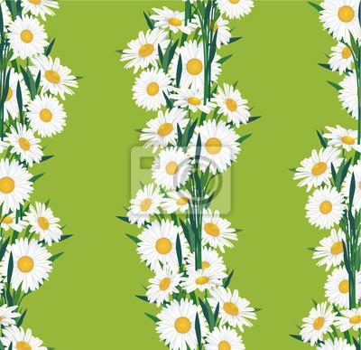 Drucken, бесшовный цветочный фон из ромашек, букеты