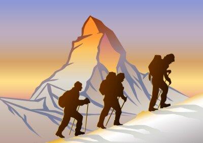 Poster Matterhorn und Dağcılar