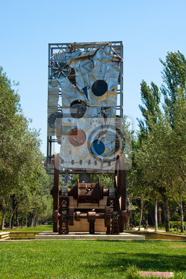 Moderne Kunst in der Ciutadella Park. Barcelona, Spanien.