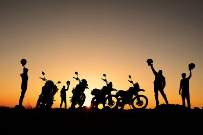 Poster motorsiklet takımı