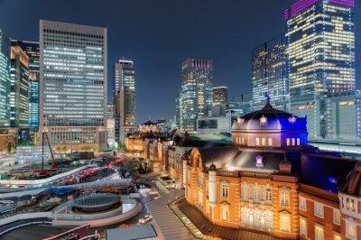 Poster 東京駅 夜景