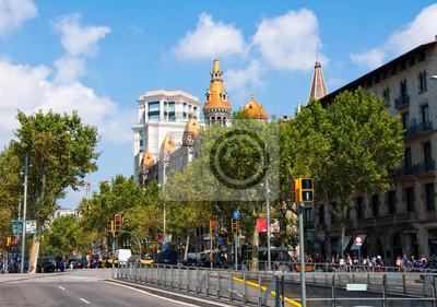 Paseo de Gracia.Barcelona, Spanien.