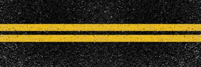 Poster yellow lines on the road