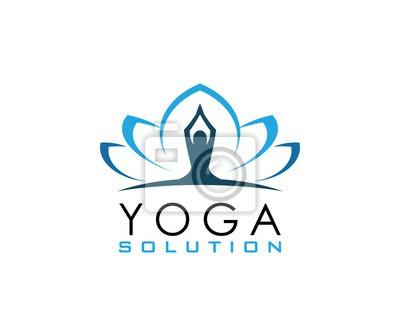 Yoga Zeichen Wandposter Poster Lotus Yoga Spa Myloviewde