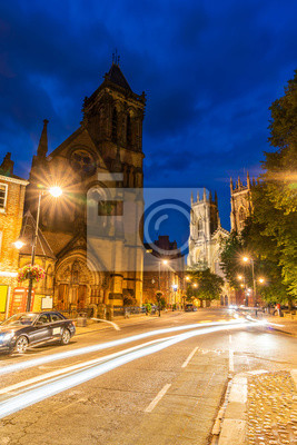 York minster with cityscape