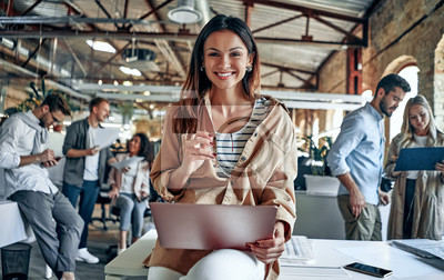 Poster Young business people in office