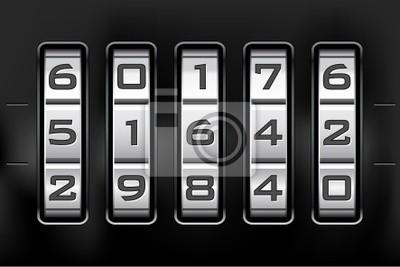Kühlschrank Zahlenschloss : Zahlenschloss zahlencode vektor datei wandposter u poster