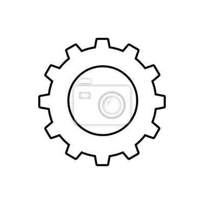 Zahnrad oder zahnradsymbol einfaches zahnrad fr den industriellen poster zahnrad oder zahnradsymbol einfaches zahnrad fr den industriellen mechanismus vektor illustration thecheapjerseys Image collections