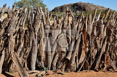 Zaun eines Ovahimbas Kral