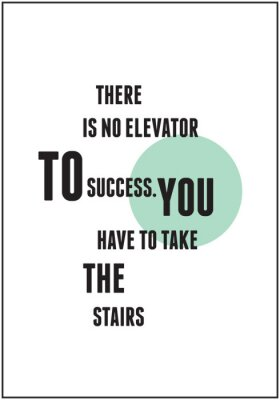 Poster Zitat Typografie für Inspiration
