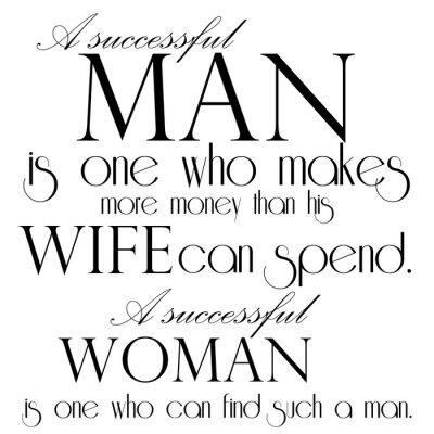 Poster Zitat über erfolgreichen Mann-Text-Entwurf