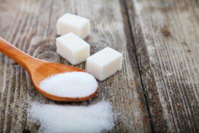 Poster Zucker in einem Löffel