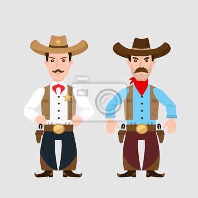 Poster zwei Cowboys
