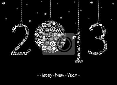 2013 Frohes Neues Jahr-Grußkarte.
