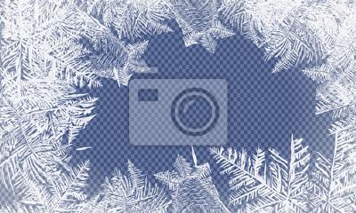 Sticker 2018 neues Jahr auf gefrorenem Hintergrund des Eises. Globale Farben. Ein editierbarer Farbverlauf wird für eine einfache Farbwiedergabe verwendet