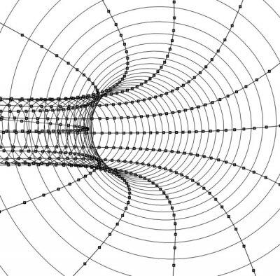 Sticker 3d abstrakt Tunnel oder Rohr