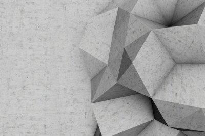 3D abstrakte geometrische Betonmauer