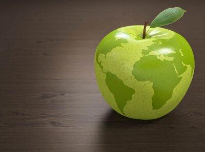 Sticker 3d Apfel Weltgesundheit