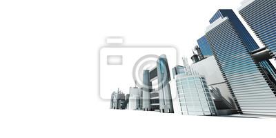 3D gerendert abstrakte Darstellung einer Skyline der Stadt