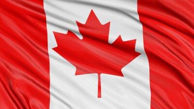 Sticker 3D Kanada-Markierungsfahne