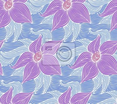 A seamless background with a water lily.