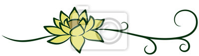 A symbol of the stylized lotus.