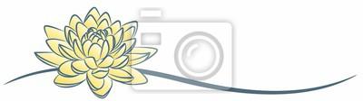 A symbol of the stylized yellow lotus.