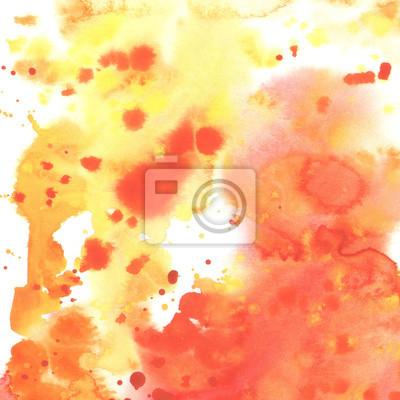 Abstract Aquarell Gelb Orange Rot Hintergrund.