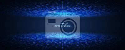 Sticker Abstract blue halftone circle futuristic. vector eps10