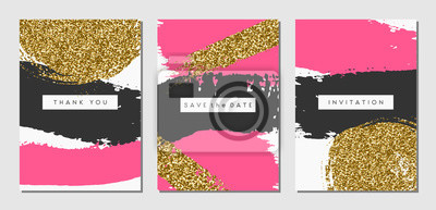 Abstract Design-Karten-Set