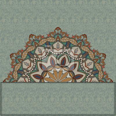 Abstract floral frame. Ornamental nahtlose Hintergrund