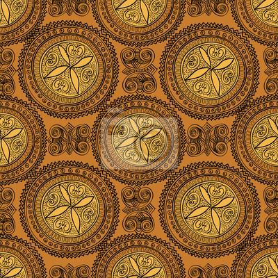 Sticker Abstract floral nahtlose Muster. Oriental Ornament Hintergrund