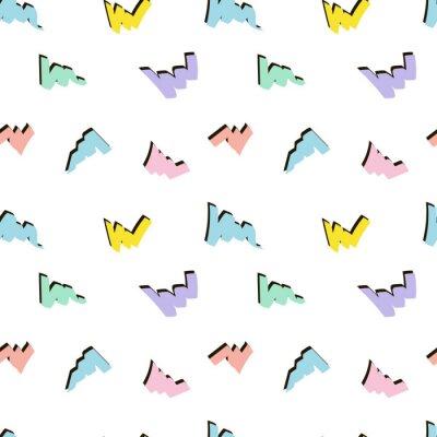 abstract geometric colourful memphis seamless pattern, flat vector, summer design