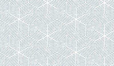 Sticker Abstract geometric pattern with stripes, lines. Seamless vector background. White and blue ornament. Simple lattice graphic design