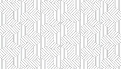 Sticker Abstract geometric pattern with stripes, lines. Seamless vector background. White and grey ornament. Simple lattice graphic design.